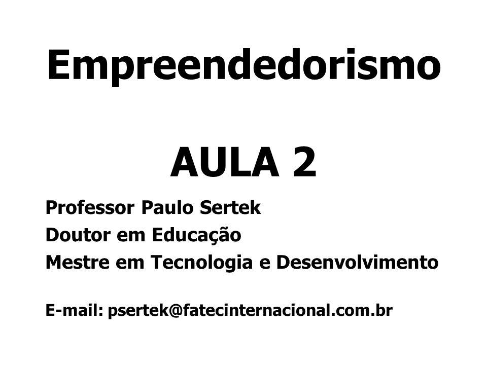 Empreendedorismo AULA 2