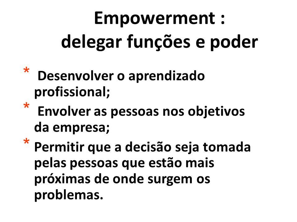 Empowerment : delegar funções e poder