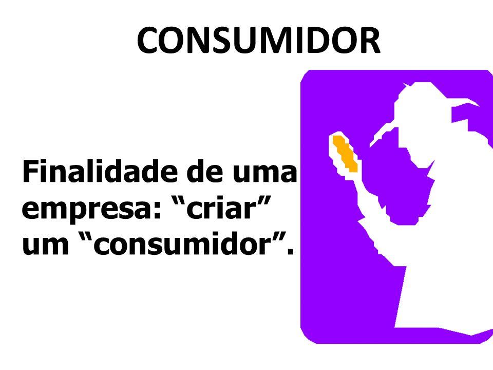 CONSUMIDOR Finalidade de uma empresa: criar um consumidor .