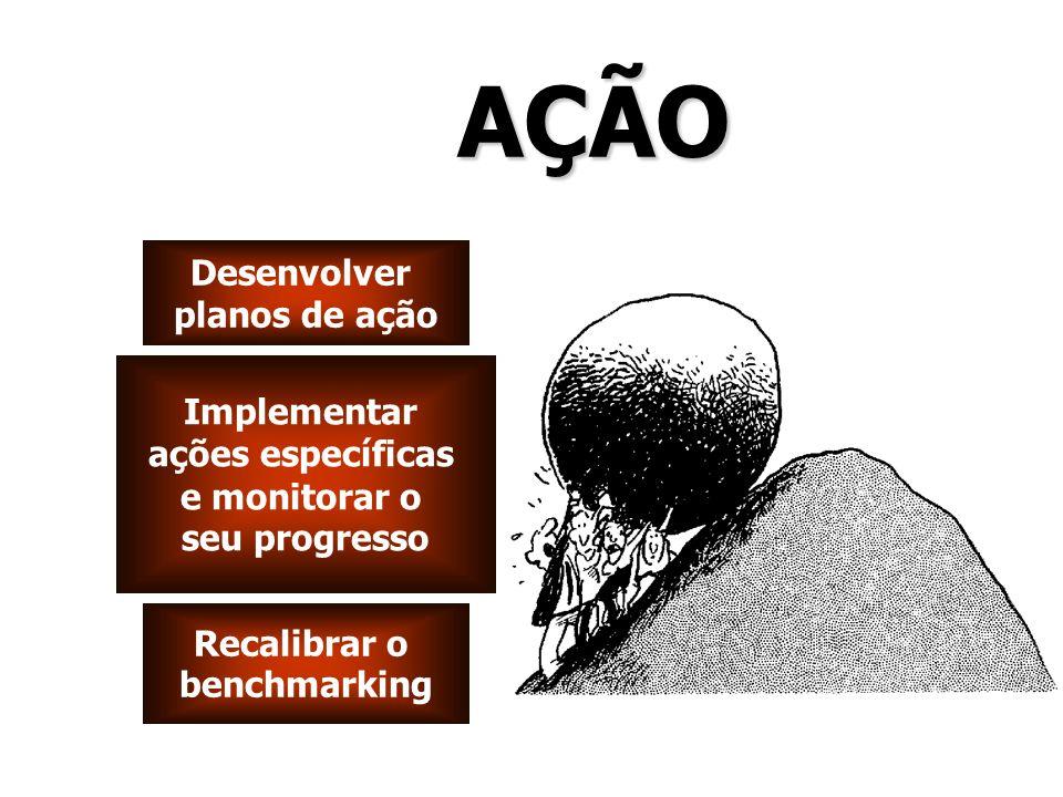 AÇÃO Desenvolver planos de ação Implementar ações específicas