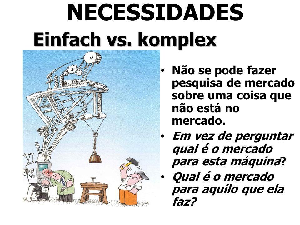 NECESSIDADES Einfach vs. komplex
