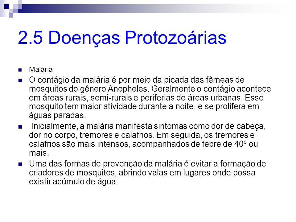 2.5 Doenças Protozoárias Malária.