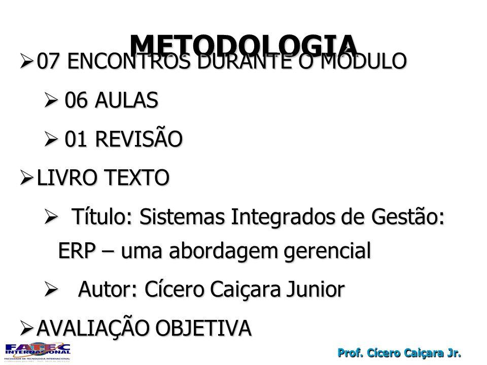 METODOLOGIA 07 ENCONTROS DURANTE O MÓDULO 06 AULAS 01 REVISÃO