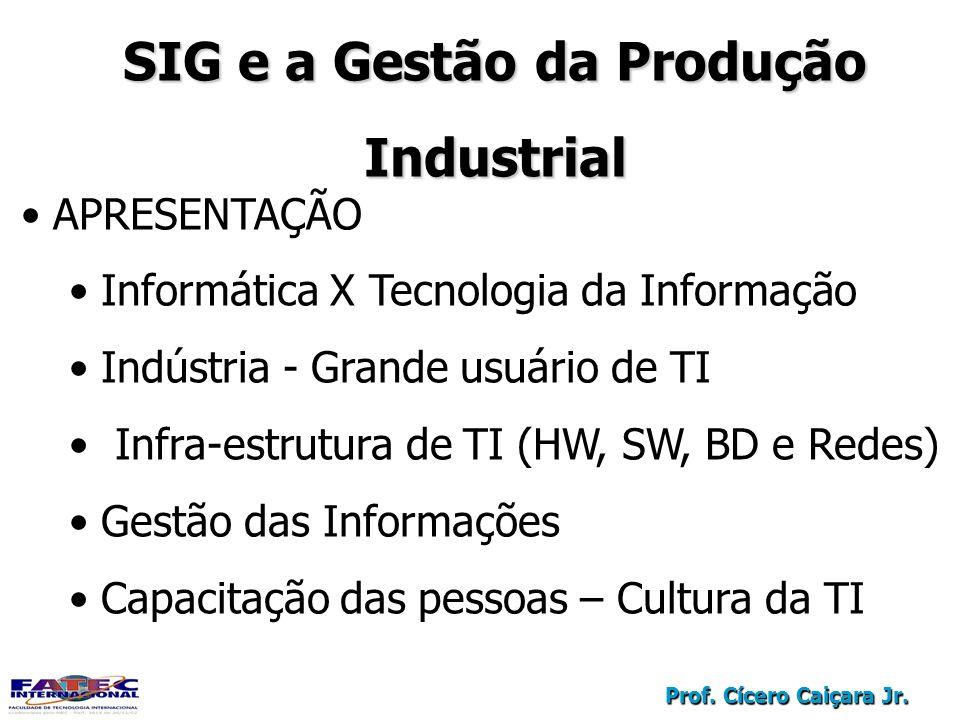 SIG e a Gestão da Produção
