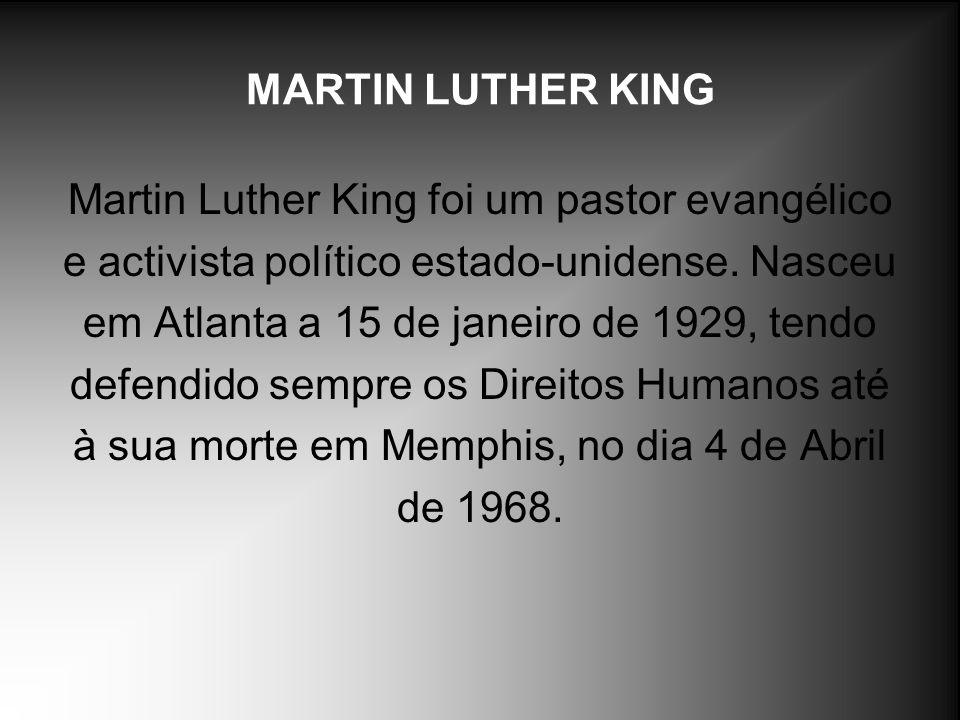 Martin Luther King foi um pastor evangélico