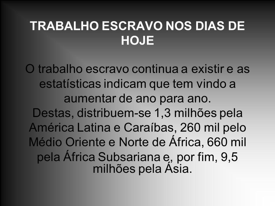 TRABALHO ESCRAVO NOS DIAS DE HOJE