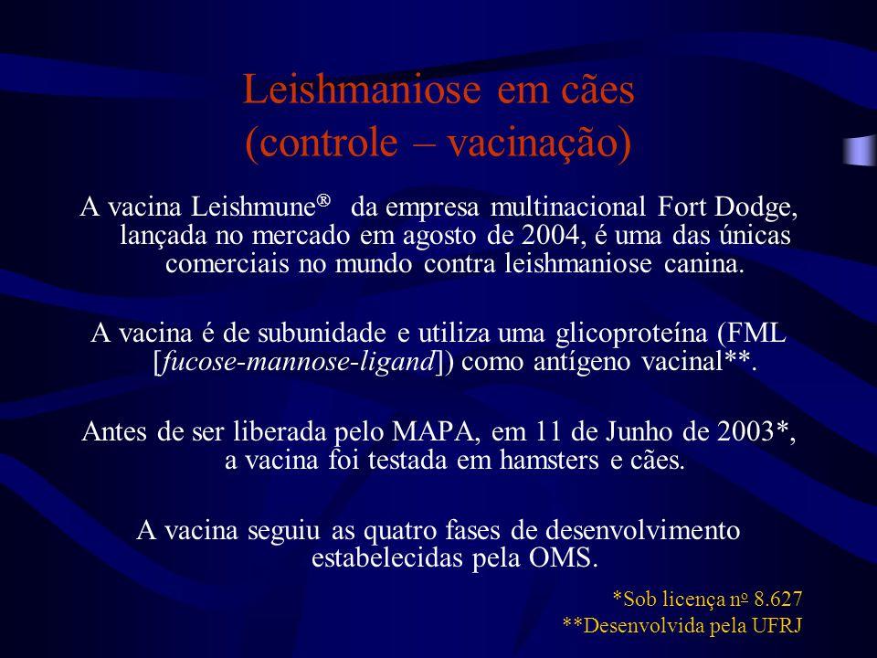 Leishmaniose em cães (controle – vacinação)