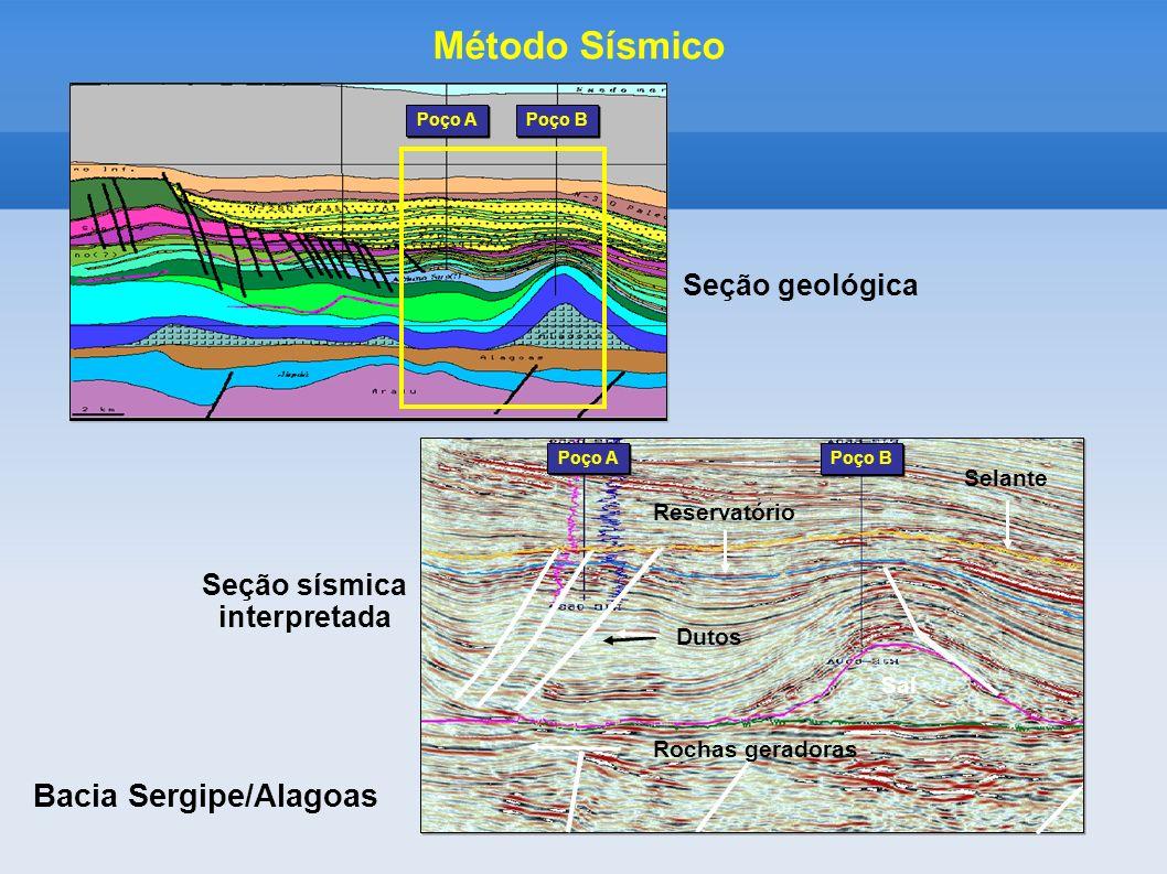 Seção sísmica interpretada Bacia Sergipe/Alagoas