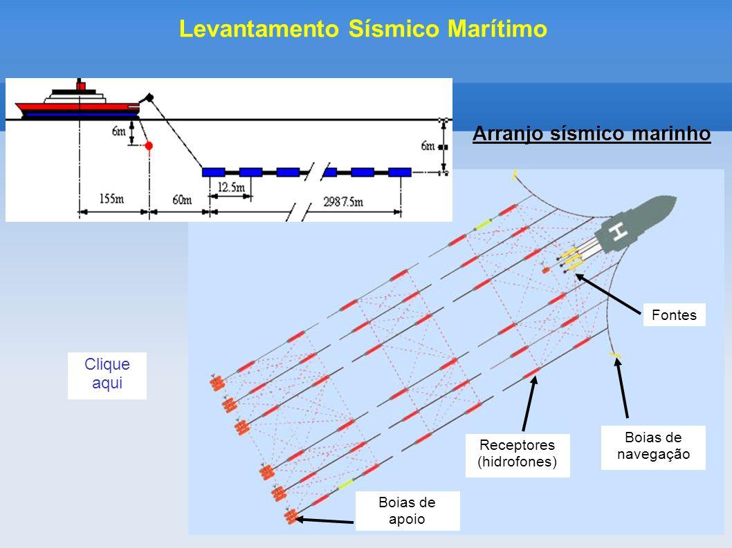 Levantamento Sísmico Marítimo Arranjo sísmico marinho