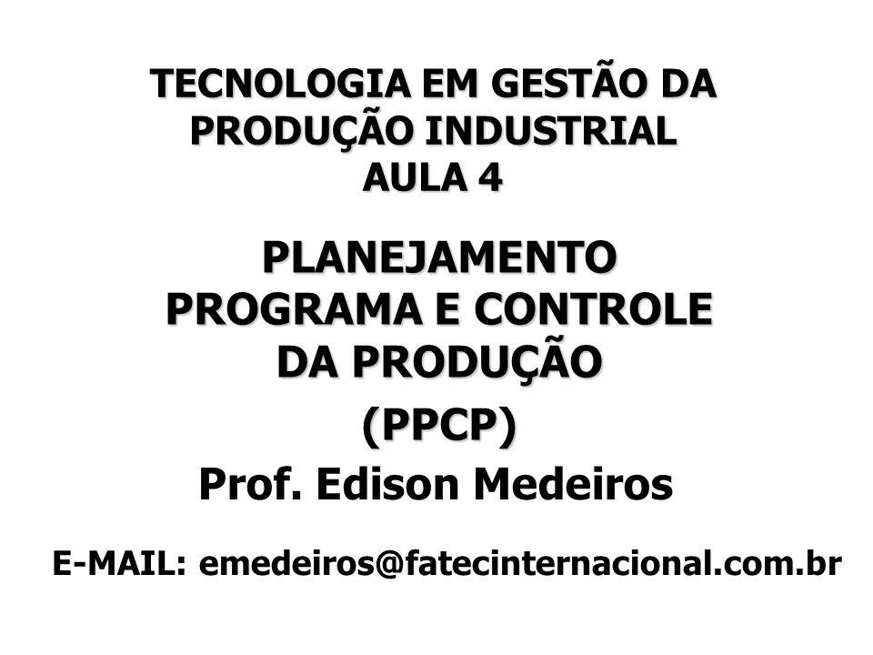 TECNOLOGIA EM GESTÃO DA PRODUÇÃO INDUSTRIAL AULA 4