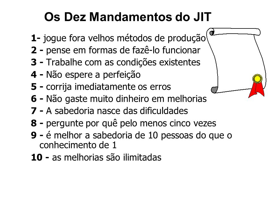 Os Dez Mandamentos do JIT