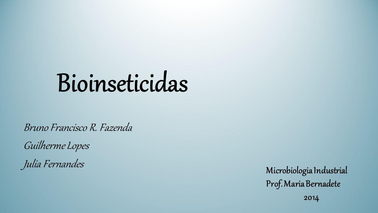 Bioinseticidas Bruno Francisco R. Fazenda Guilherme Lopes