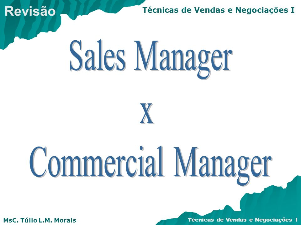 Revisão Sales Manager x Commercial Manager