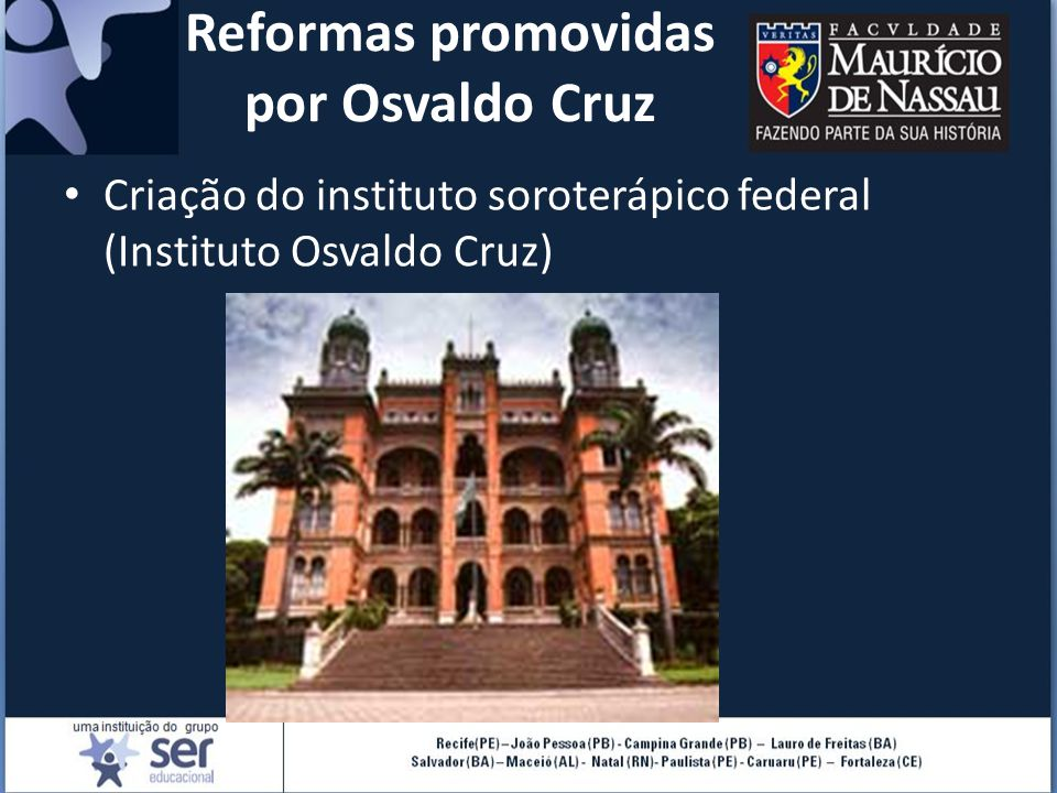Reformas promovidas por Osvaldo Cruz