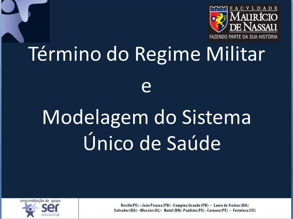 Término do Regime Militar e Modelagem do Sistema Único de Saúde