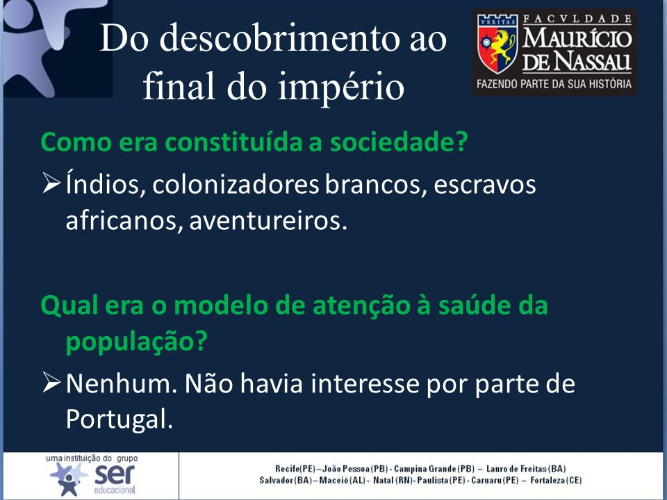 Do descobrimento ao final do império