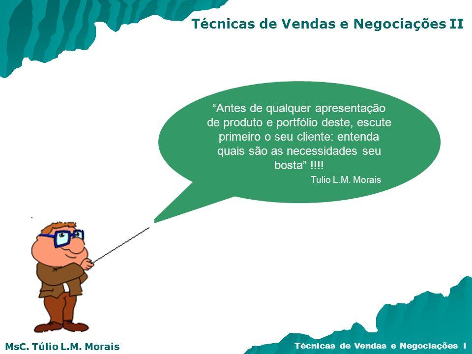 Técnicas de Vendas e Negociações II