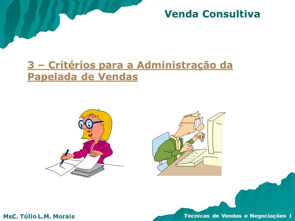 Venda Consultiva 3 – Critérios para a Administração da Papelada de Vendas