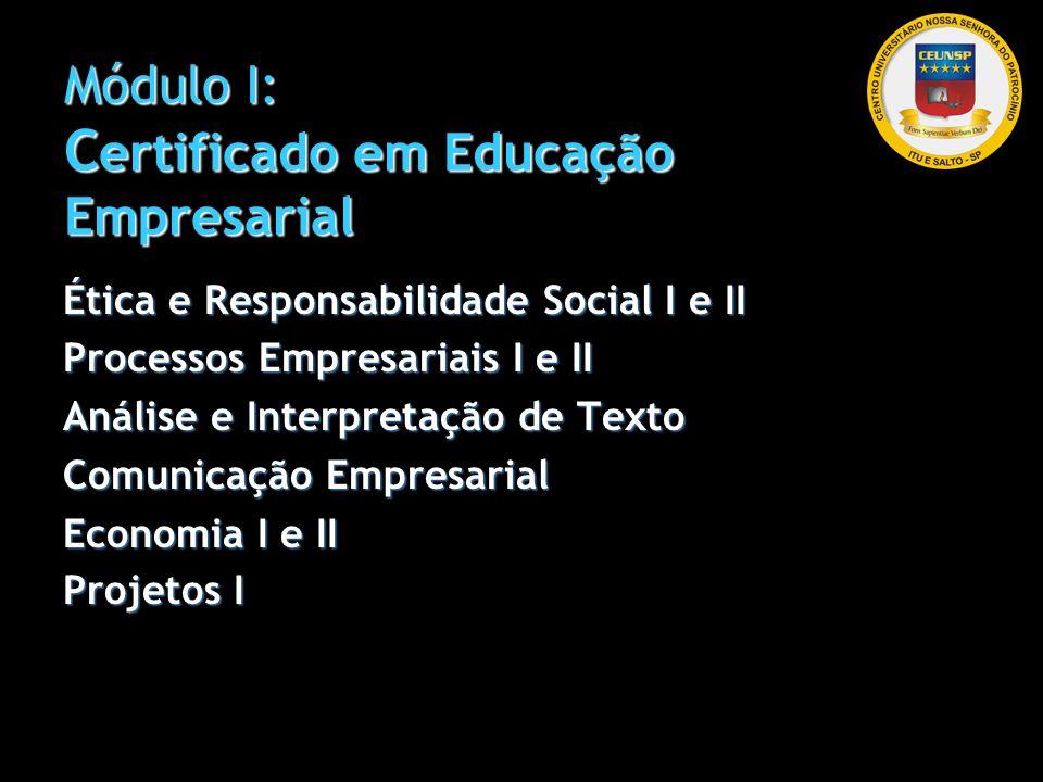 Módulo I: Certificado em Educação Empresarial