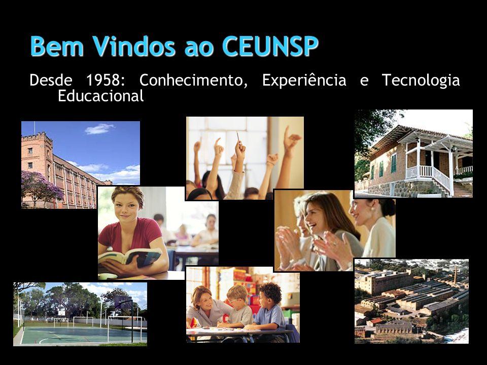 Bem Vindos ao CEUNSP Desde 1958: Conhecimento, Experiência e Tecnologia Educacional