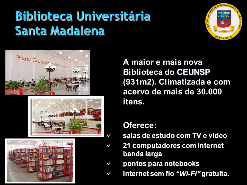 Biblioteca Universitária Santa Madalena