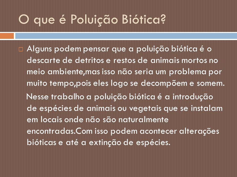 O que é Poluição Biótica
