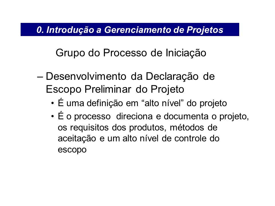 Grupo do Processo de Iniciação