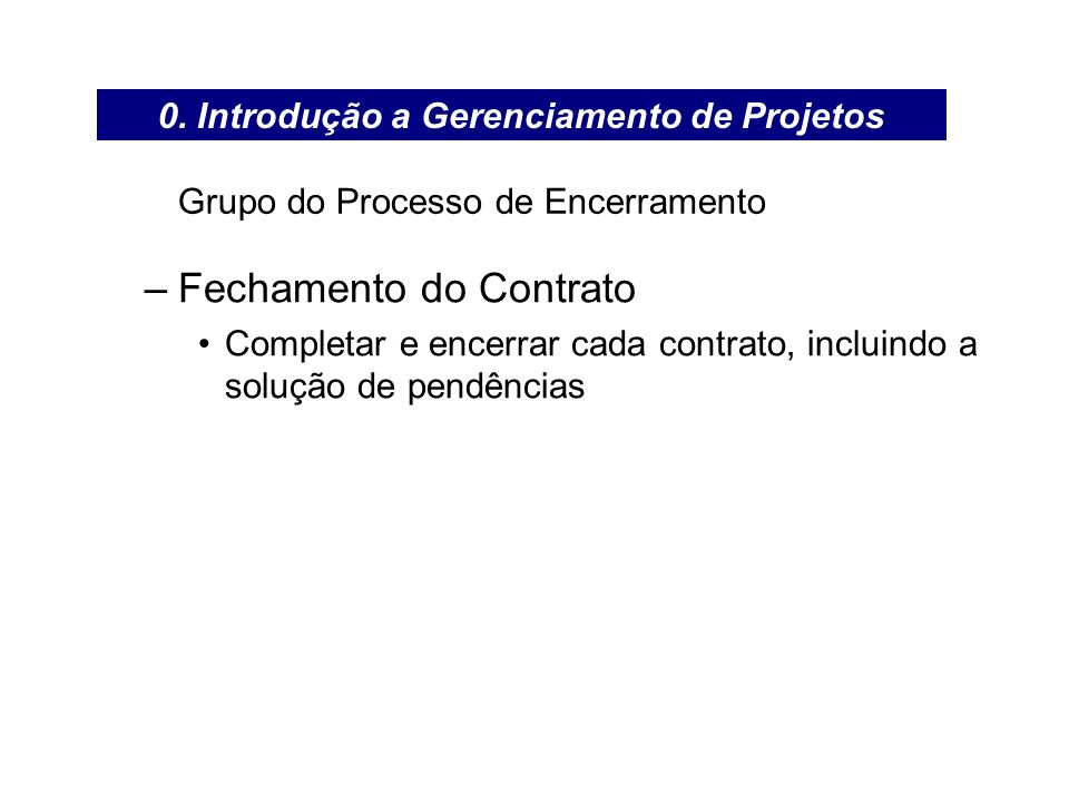 Grupo do Processo de Encerramento