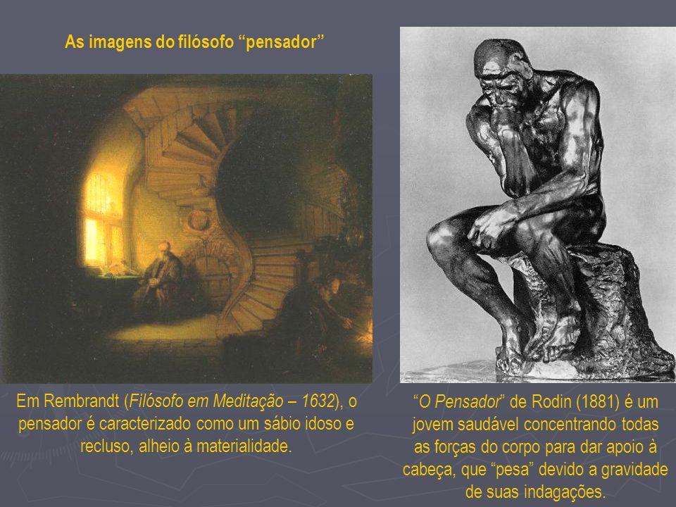 As imagens do filósofo pensador