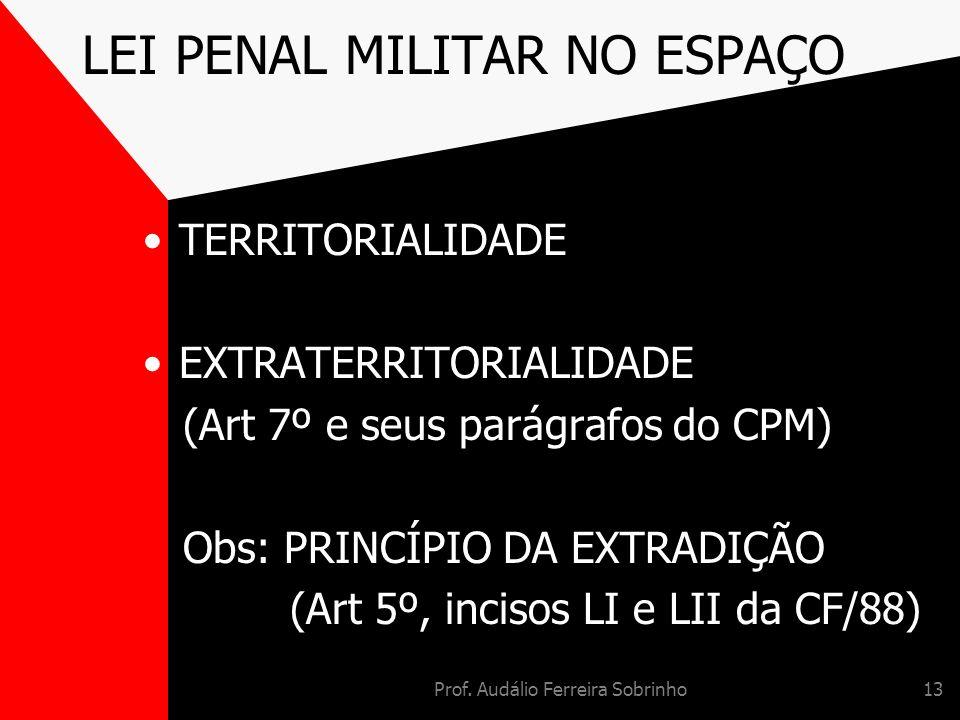 LEI PENAL MILITAR NO ESPAÇO
