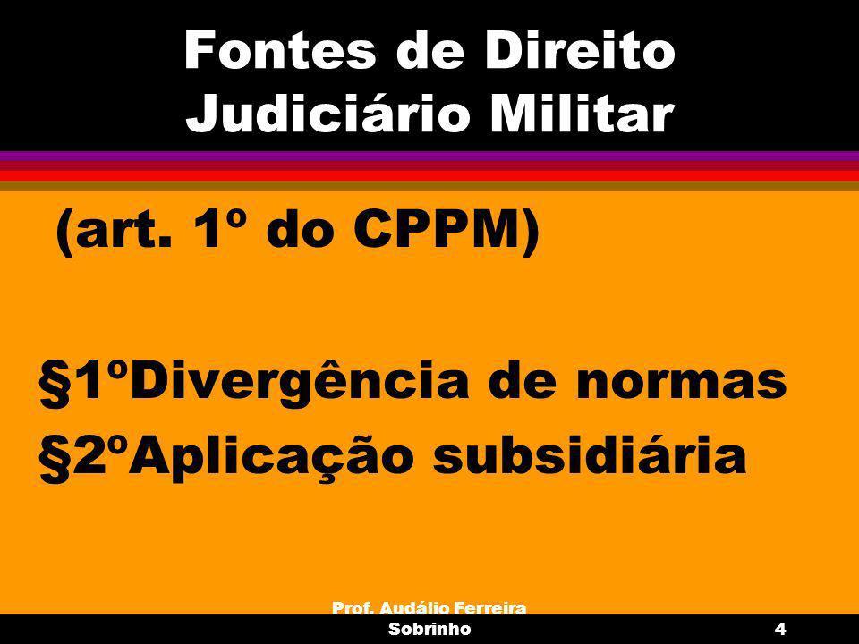 Fontes de Direito Judiciário Militar