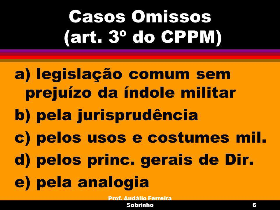 Casos Omissos (art. 3º do CPPM)