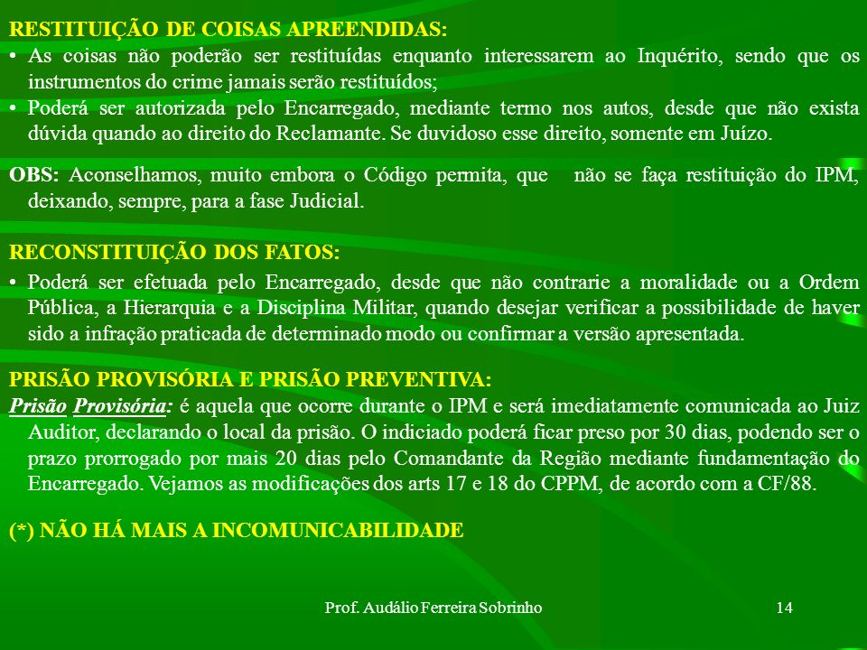 Prof. Audálio Ferreira Sobrinho