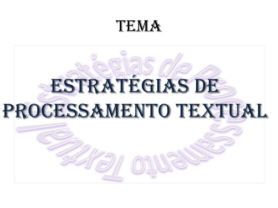 Estratégias de Processamento Textual