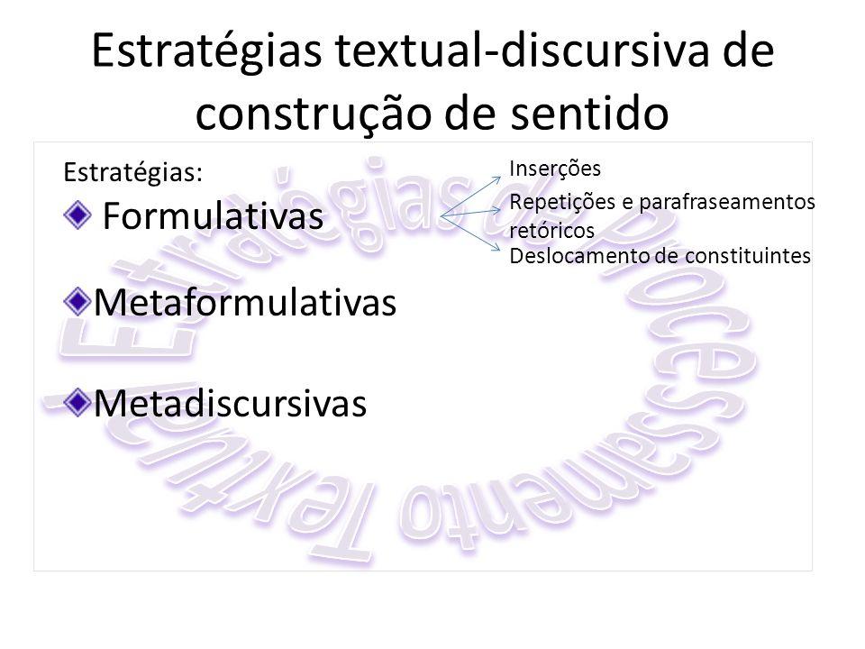 Estratégias textual-discursiva de construção de sentido