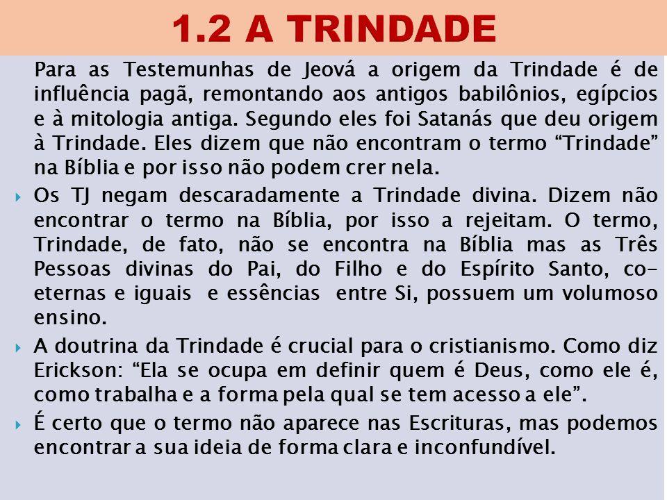 1.2 A TRINDADE
