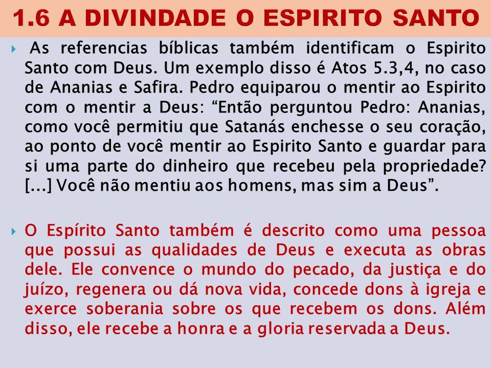 1.6 A DIVINDADE O ESPIRITO SANTO