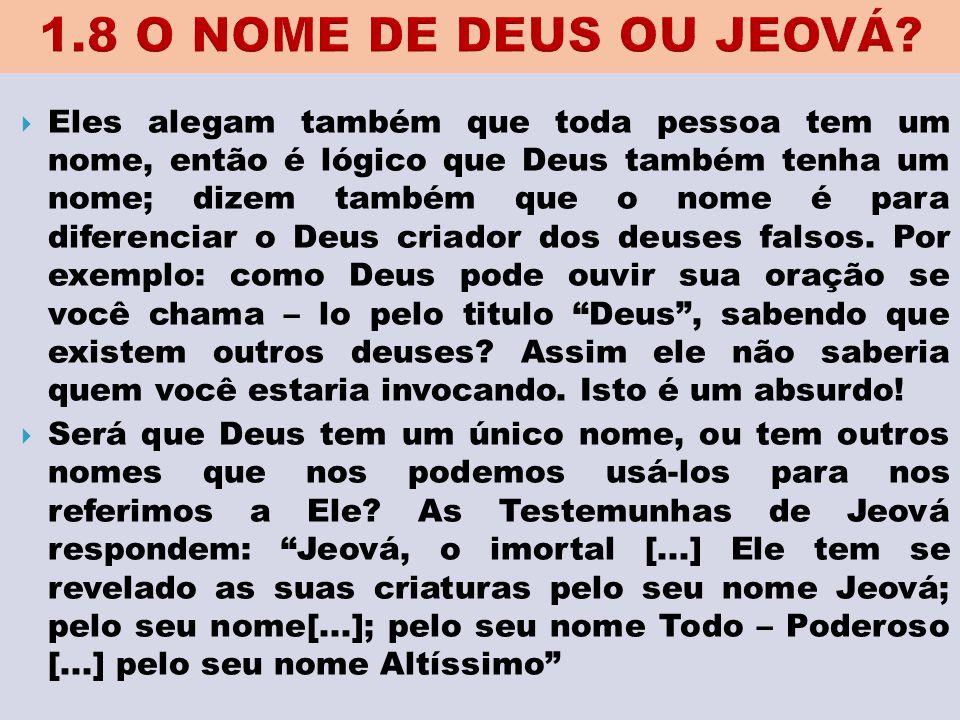 1.8 O NOME DE DEUS OU JEOVÁ