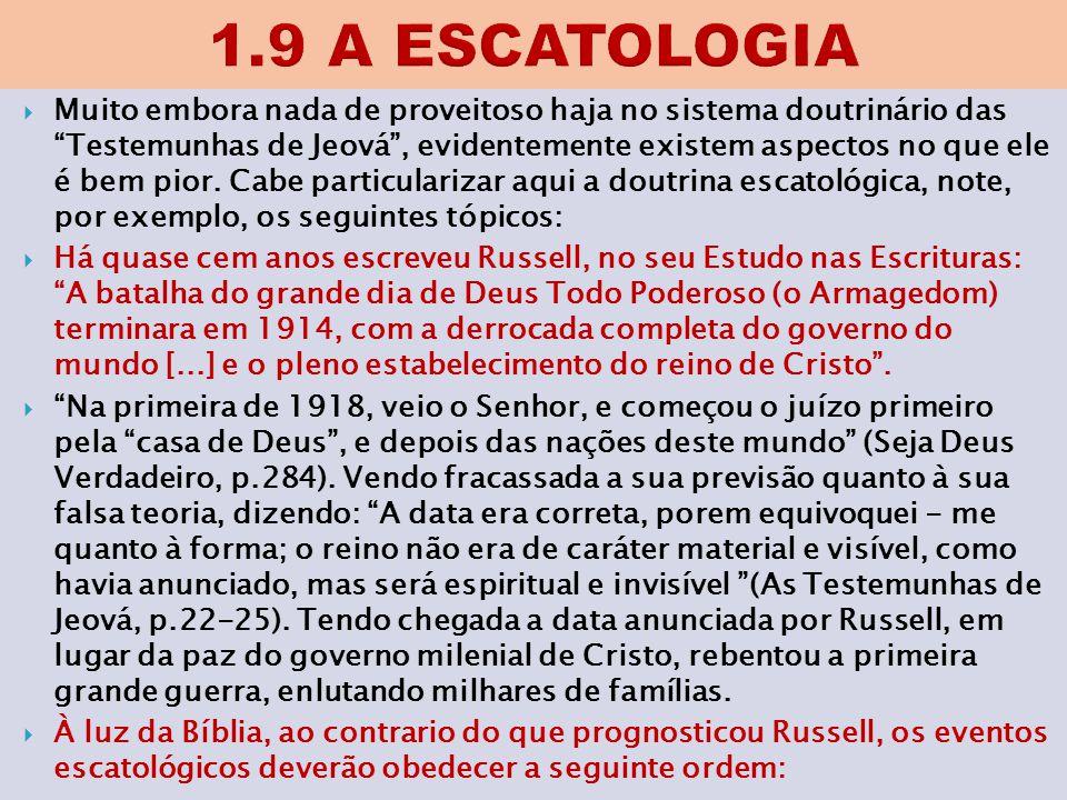 1.9 A ESCATOLOGIA
