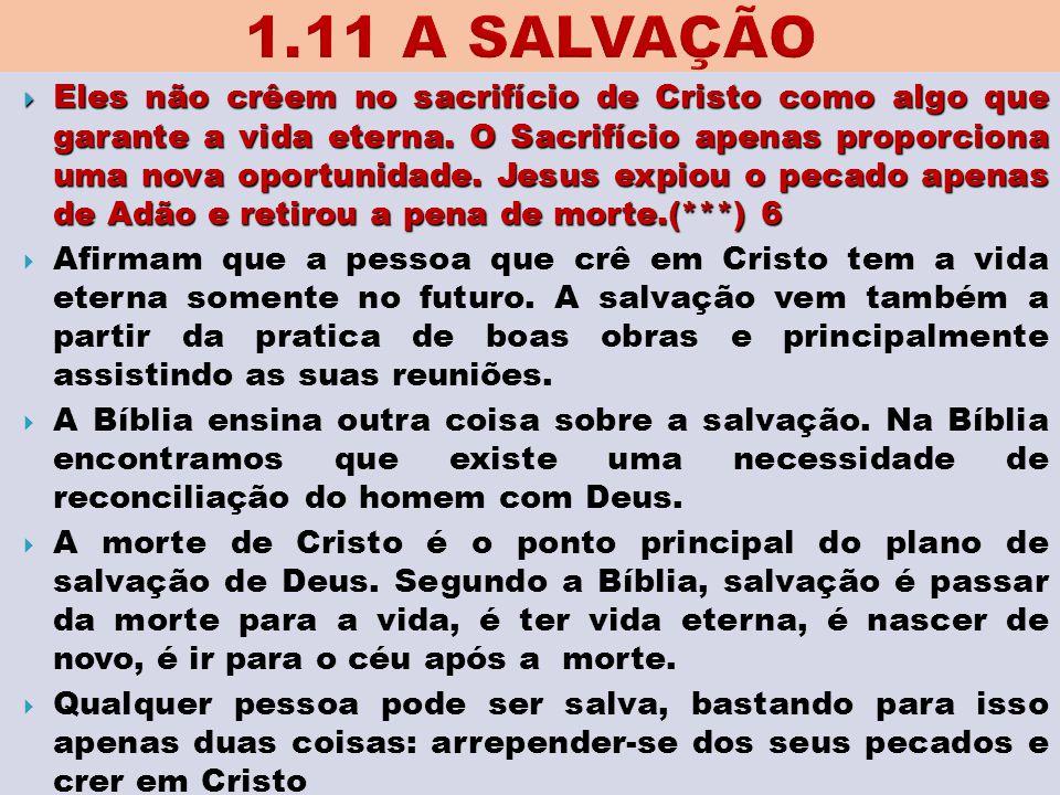 1.11 A SALVAÇÃO