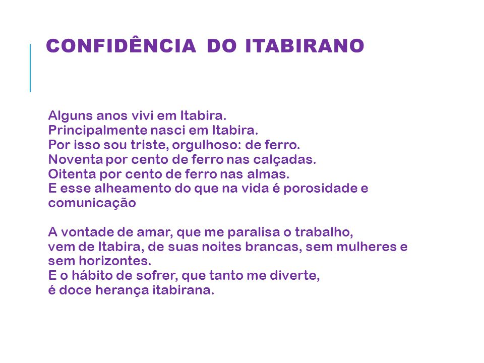 Confidência do itabirano