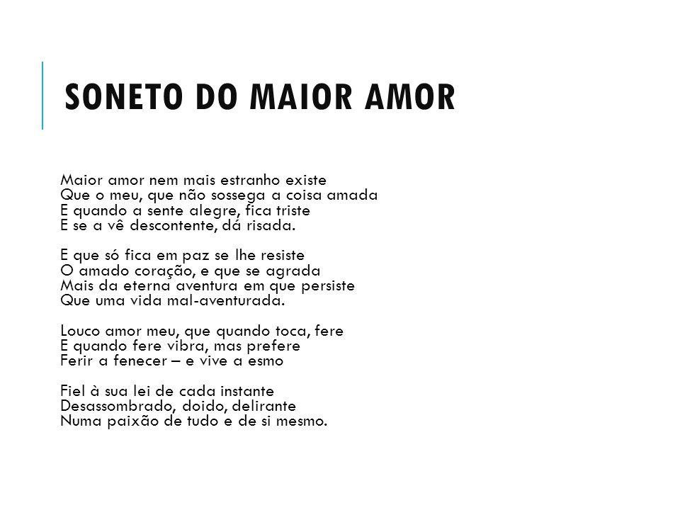 SONETO DO MAIOR AMOR
