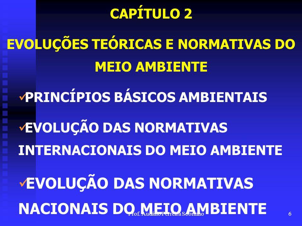 EVOLUÇÕES TEÓRICAS E NORMATIVAS DO MEIO AMBIENTE