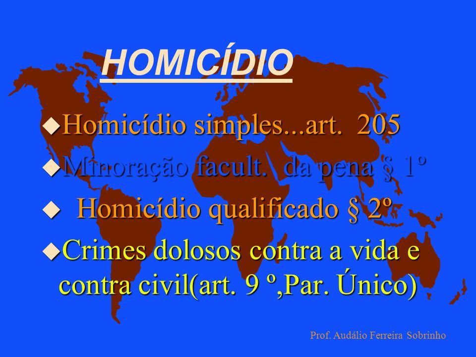 HOMICÍDIO Homicídio simples...art. 205 Minoração facult. da pena § 1º