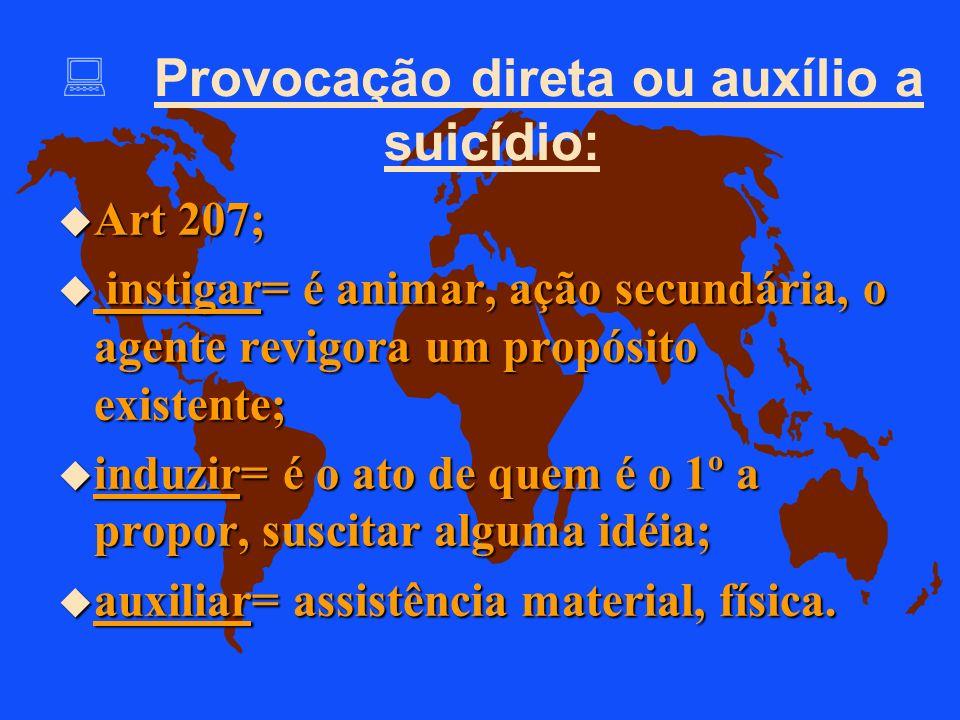 Provocação direta ou auxílio a suicídio: