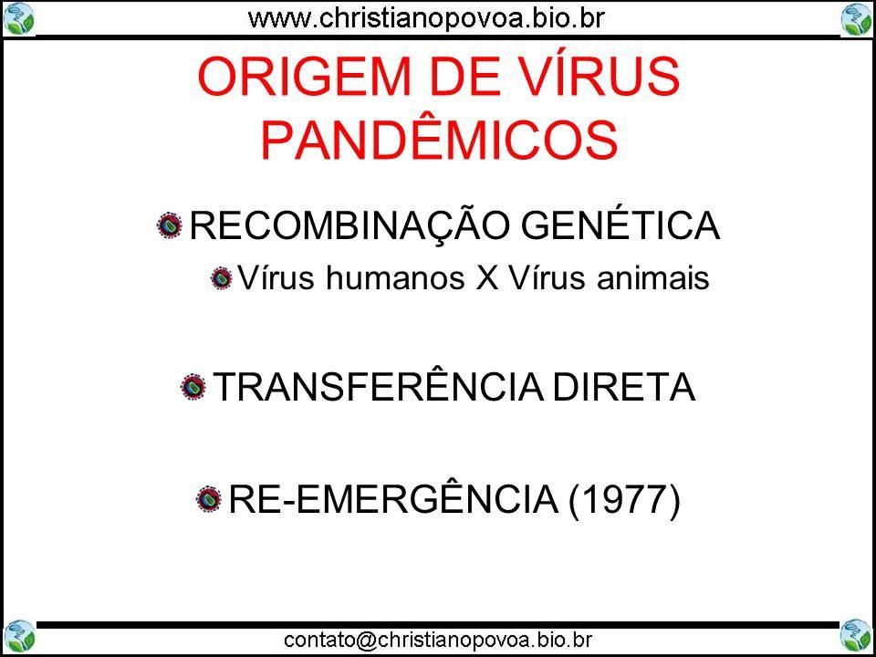 ORIGEM DE VÍRUS PANDÊMICOS