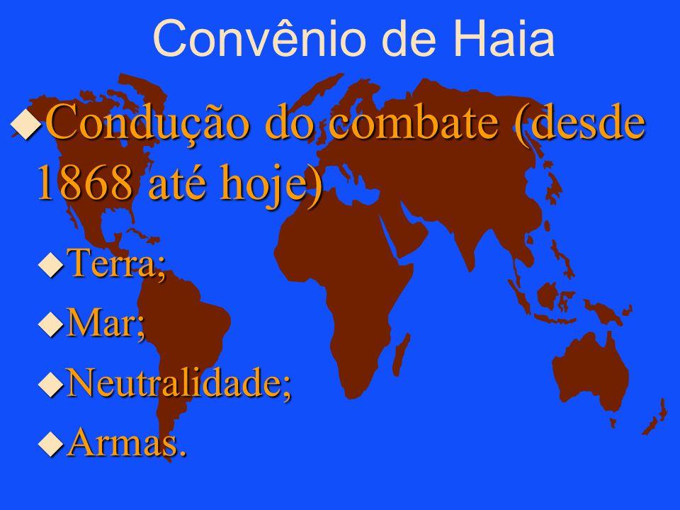 Condução do combate (desde 1868 até hoje)