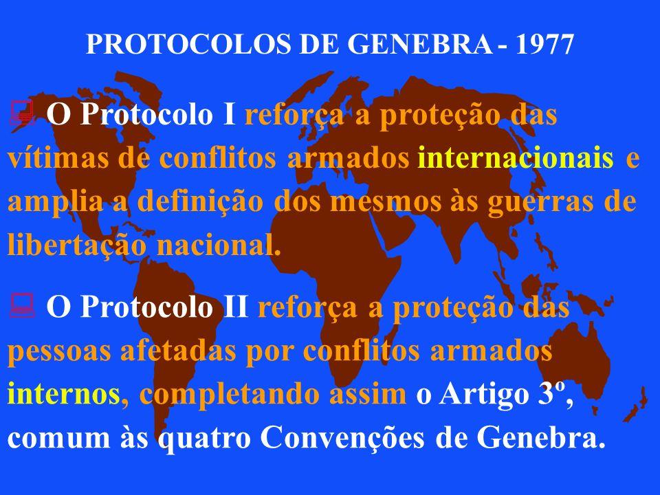 PROTOCOLOS DE GENEBRA - 1977