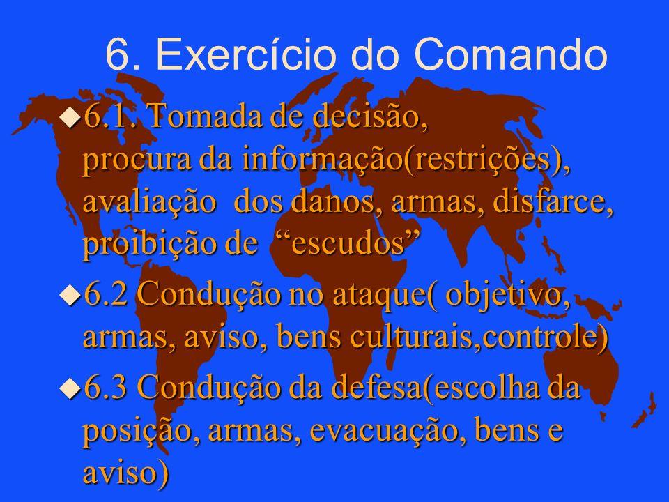 6. Exercício do Comando