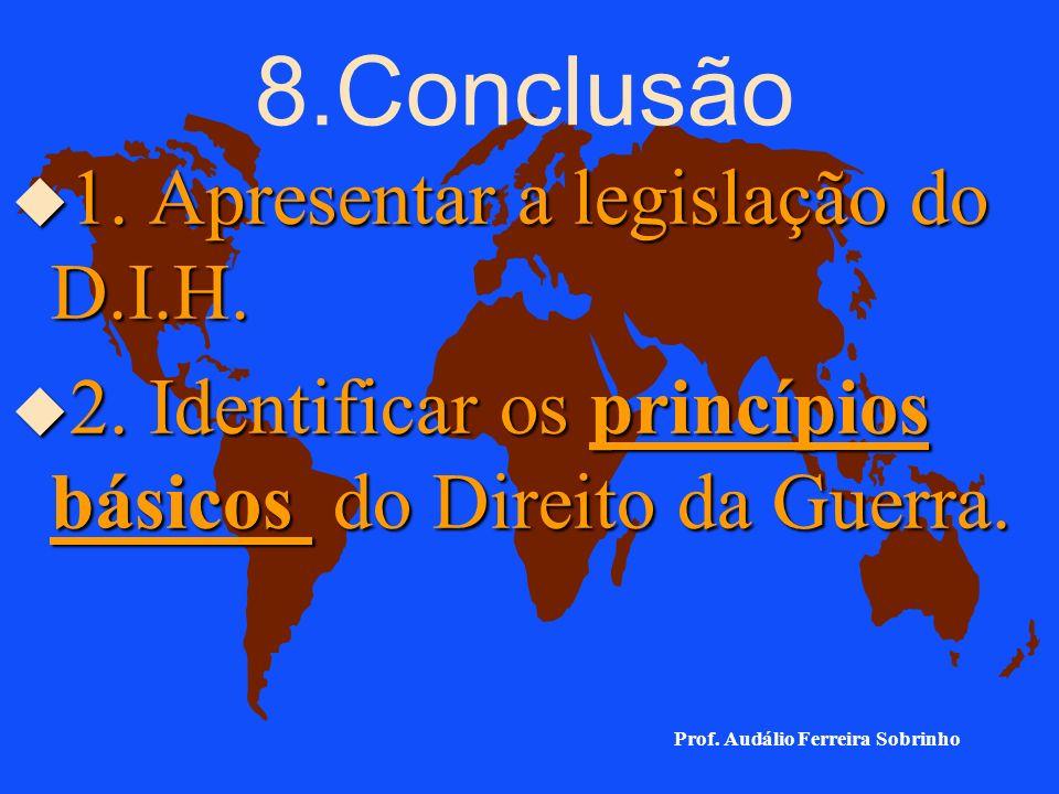 8.Conclusão 1. Apresentar a legislação do D.I.H.